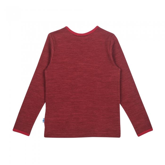 Taamo Wool longsleeve red cabernet 1