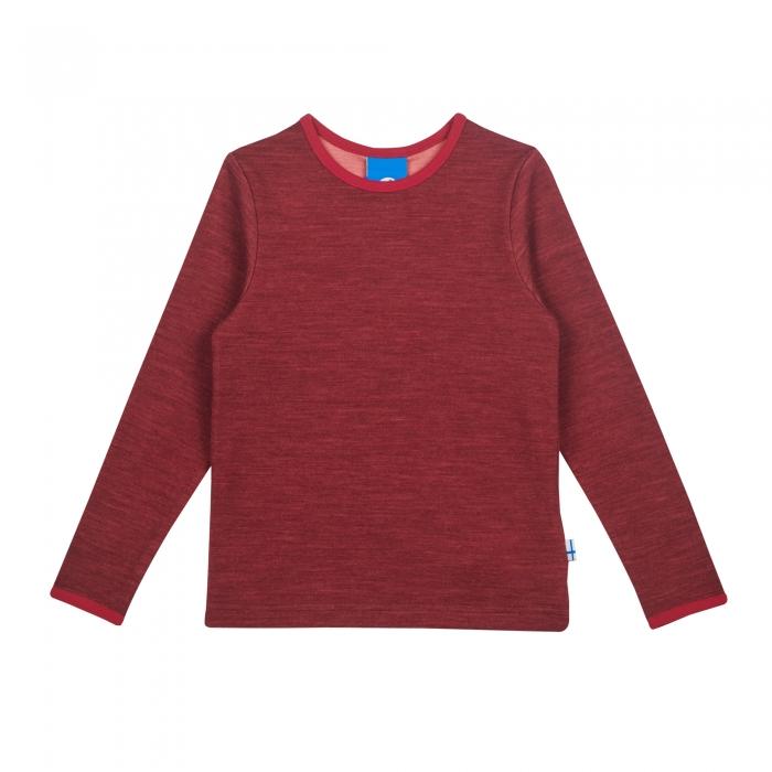 Taamo Wool longsleeve red cabernet 0