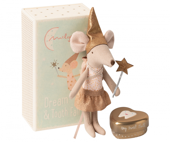 Tooth fairy mouse in matchbox, big sister 0