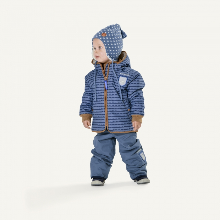Vanu soft winter jacket pebbles blue 3