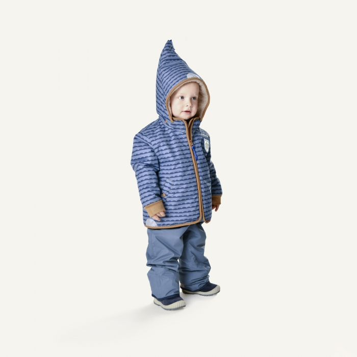 Vanu soft winter jacket pebbles blue 1
