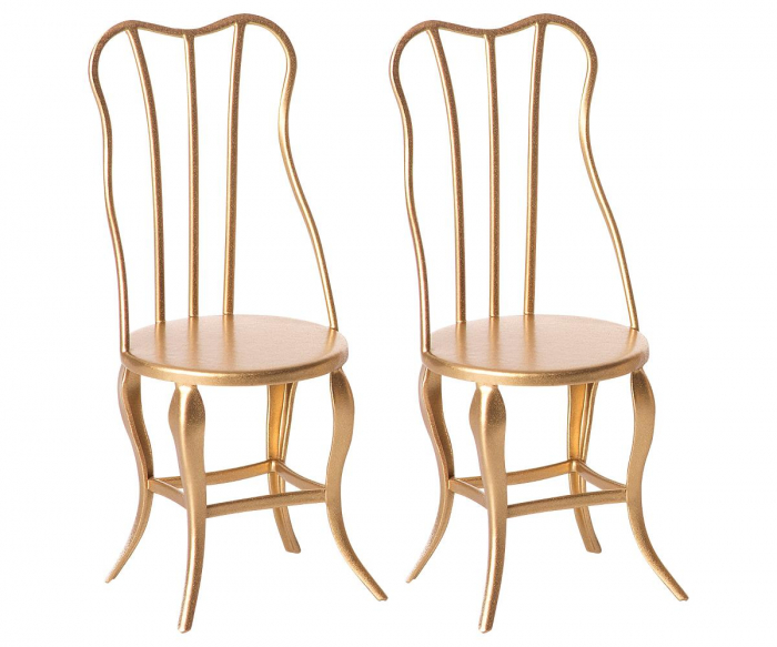 Vintage chair, Micro - Gold, 2 pack 0