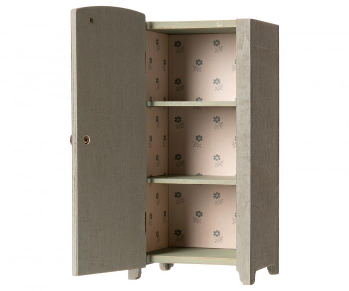 Vintage closet w shelves Mini Mint/ Grey 0