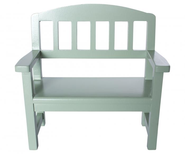Wooden bench, Green 0