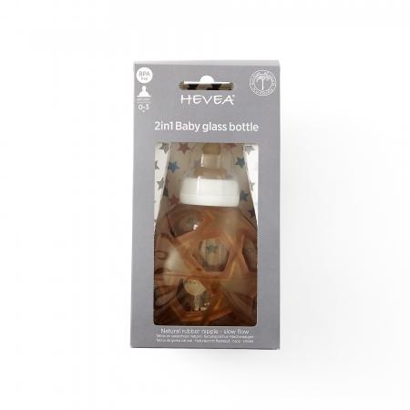 2in1 Baby glass bottle Star Ball White1