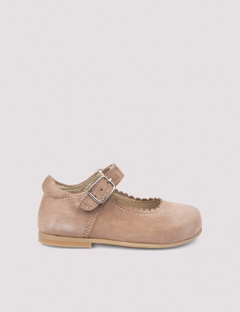 Ballerina Scallop Dusty Rose Suede1