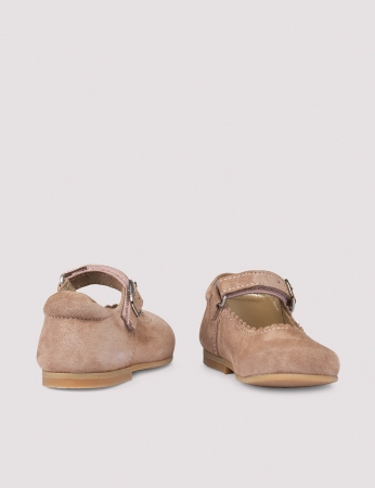 Ballerina Scallop Dusty Rose Suede2