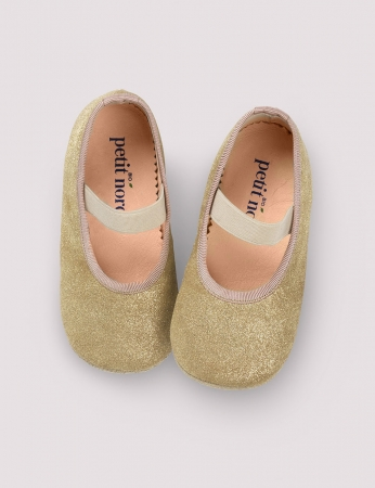 Ballerina Shoe w Elastic Gold Patinated0