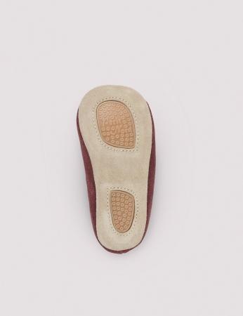 Ballerina Shoe w Elastic Wine Suede2