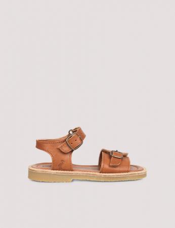 Buckle sandal Cognac1