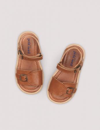 Buckle sandal Cognac0