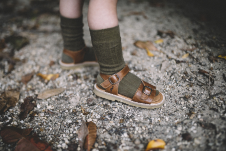 Buckle sandal Cognac3