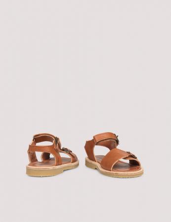 Buckle sandal Cognac2