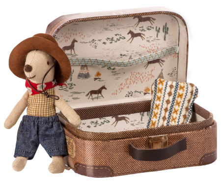 Cowboy in suitcase, little brother mouse1