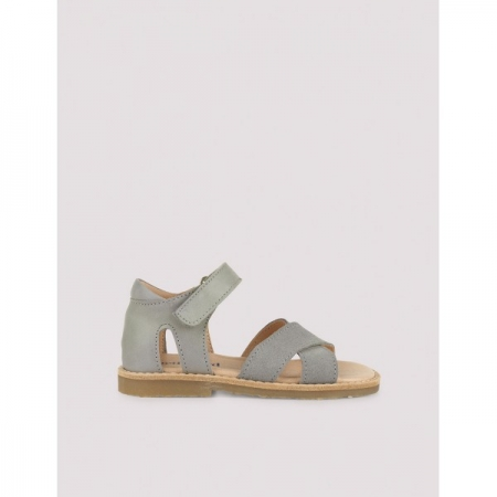 Cross-over sandal concrete green1