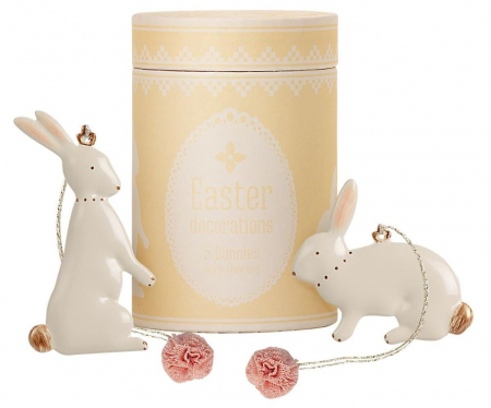 Easter bunny ornaments - 5 pieces1