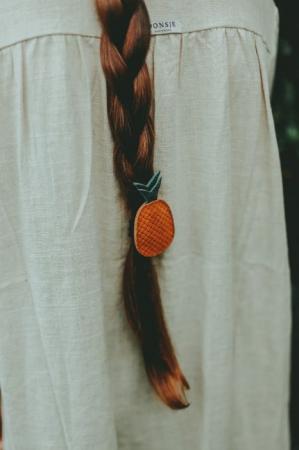 Elastic pentru par - Nanoe fruit hair tie pineapple2