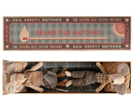 Grandma & Grandpa mice in matchbox1