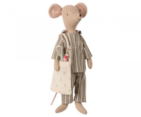 Medium mouse in box - Boy, incl sleep-over set1