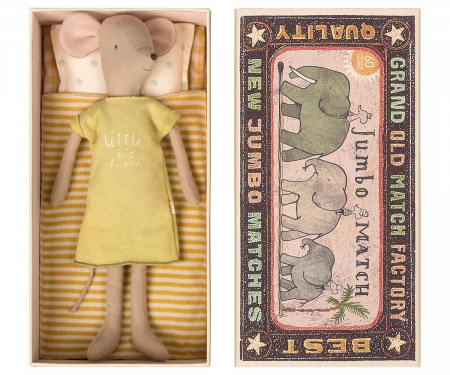 Medium mouse in box - Girl, incl sleep-over set [0]