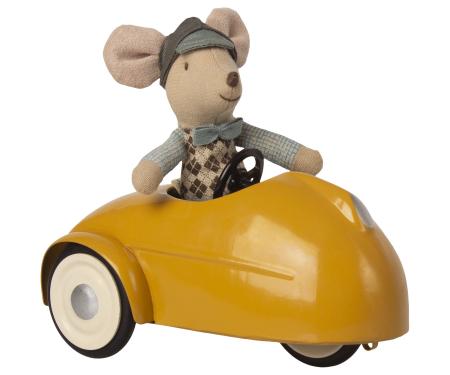 Mouse car w garage - Yellow2