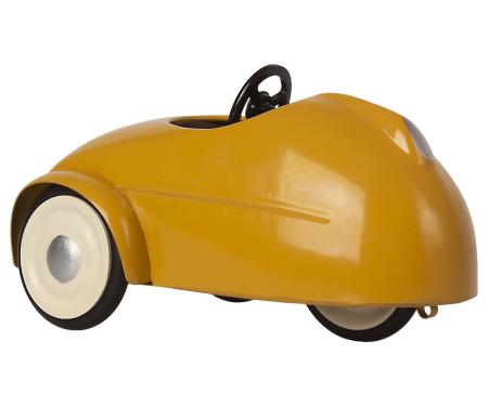 Mouse car w garage - Yellow1