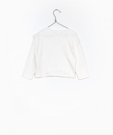 Pulover jerseu bumbac organic alb1