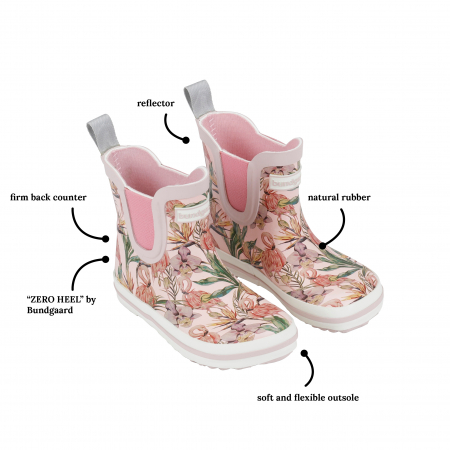 Rose flamingo short classic rubber boot 202