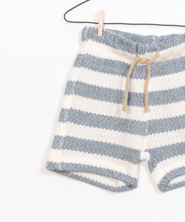 Striped Fleece Shorts [2]