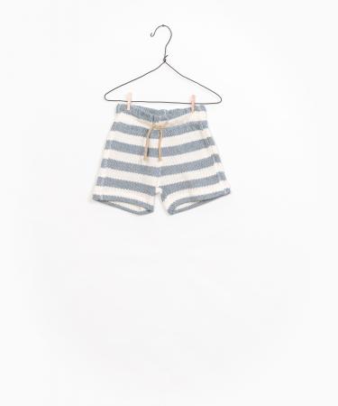 Striped Fleece Shorts [0]