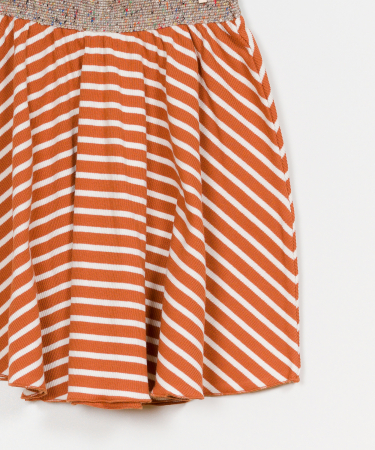 Striped RIB skirt2