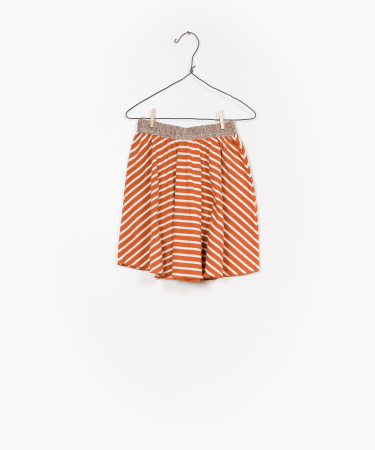 Striped RIB skirt0