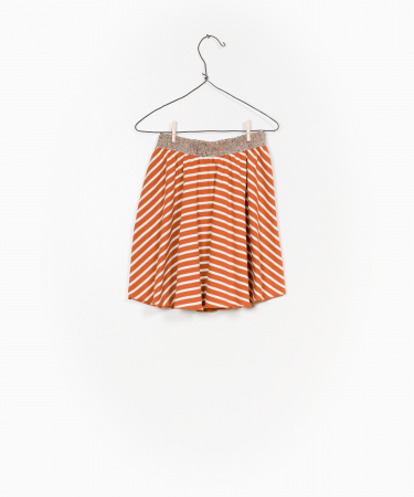 Striped RIB skirt1