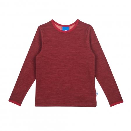 Taamo Wool longsleeve red cabernet0