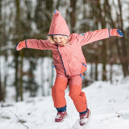 Talvinen Husky winter jacket rose/navy [1]