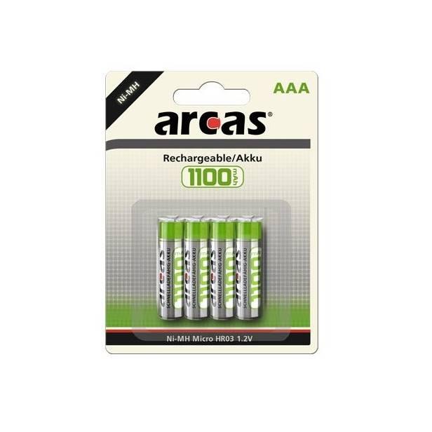 Acumulator Arcas set 4 buc AA NI-MH 1100 mAh 1.2V [0]