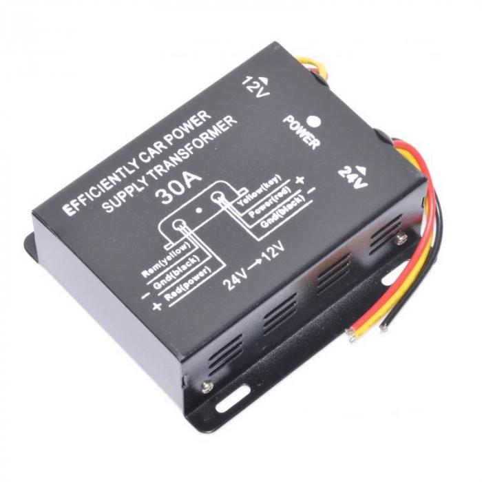 Convertor de tensiune auto 24VDC la 12VDC (10-30A) [0]