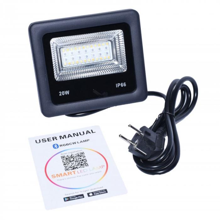 Proiector cu LED RGB si control de la distanta 220V 20W [6]