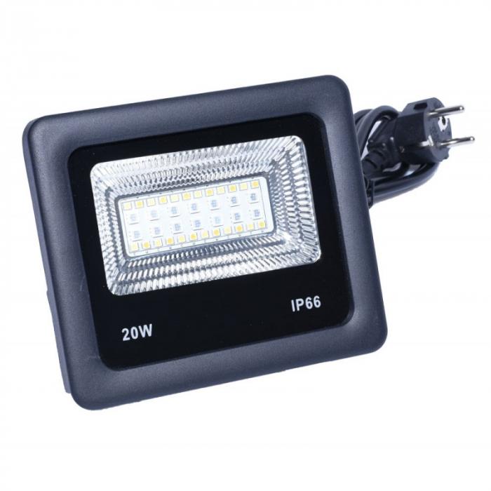 Proiector cu LED RGB si control de la distanta 220V 20W [1]