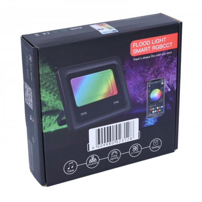 Proiector cu LED RGB si control de la distanta 220V 20W [5]