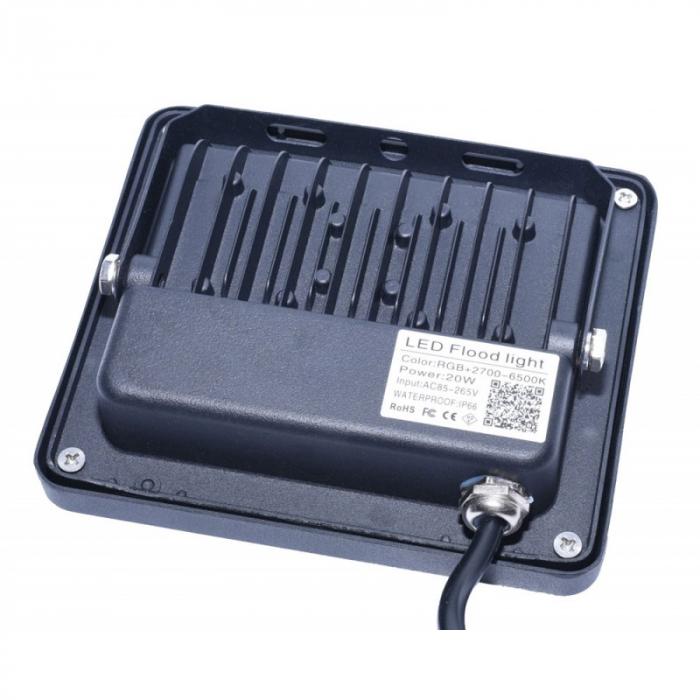 Proiector cu LED RGB si control de la distanta 220V 20W [7]