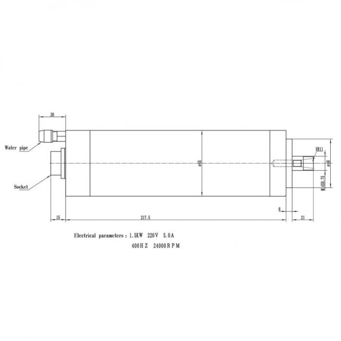 Spindle CNC 0.8/1.5kw 220V ER11 racire apa [9]