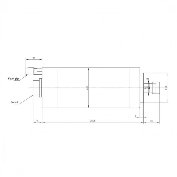 Spindle CNC 0.8/1.5kw 220V ER11 racire apa [2]
