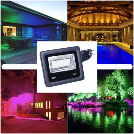 Proiector cu LED RGB si control de la distanta 220V 20W [4]