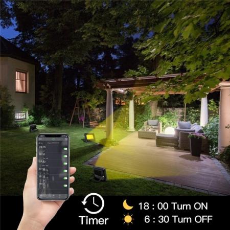 Proiector cu LED RGB si control de la distanta 220V 20W [3]