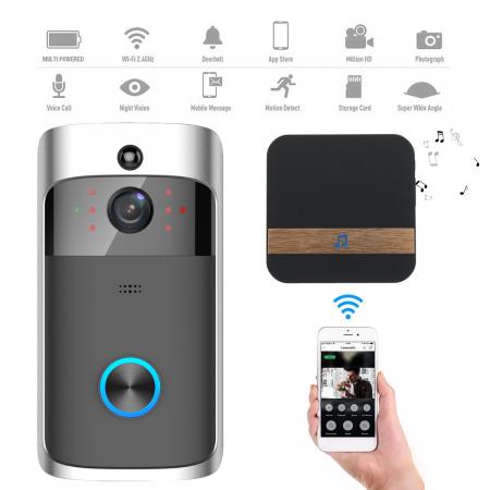 Sonerie fara fir cu monitorizare video si audio [2]