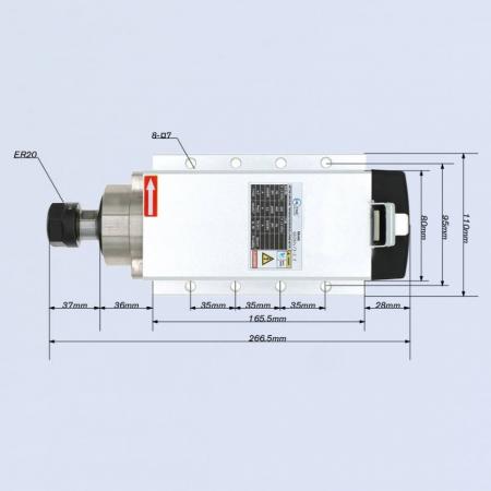 Spindle CNC 4kw ER20/25 racire aer [2]