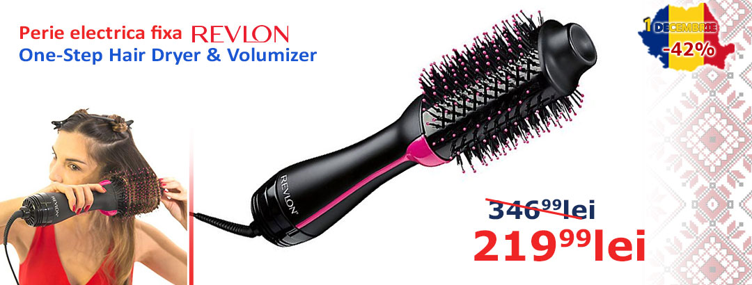 Perie electrica fixa REVLON Pro Collection One-Step Hair Dryer & Volumizer, RVDR5222E