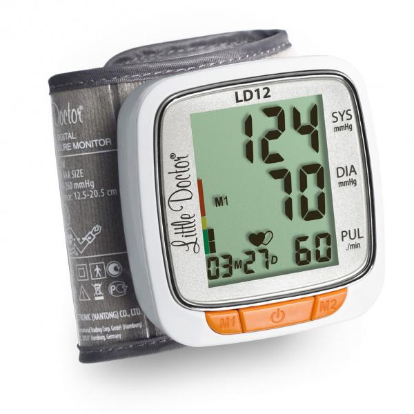 Tensiometru electronic de incheietura Little Doctor LD 12, detectare aritmie, indicator WHO, afisare data si ora [0]