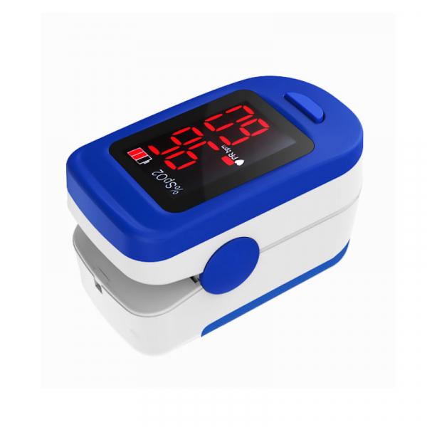 Pulsoximetru RedLine FS10C, alb-albastru, indica nivelul de saturatie a oxigenului, masoara rata pulsului 2